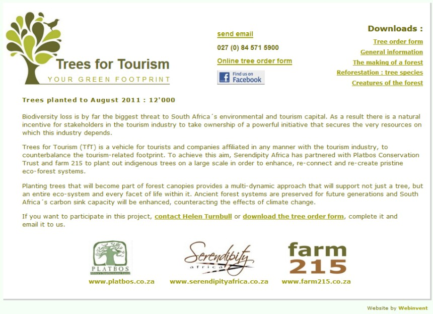 trees for tourism