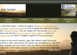 South African artist Niël Jonker's online gallery