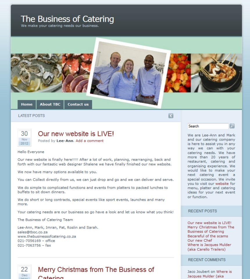 The Business of Catering Blog