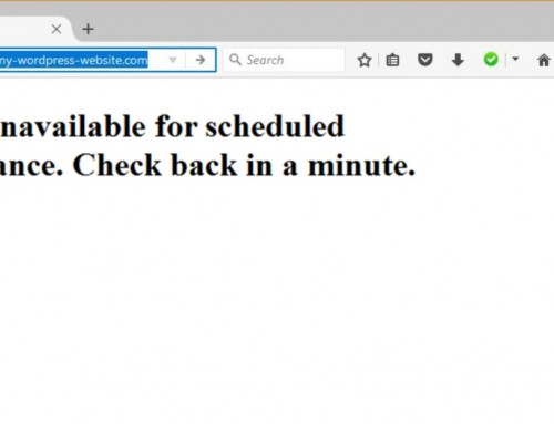 Fix WordPress Briefly Unavailable for Scheduled Maintenance Error